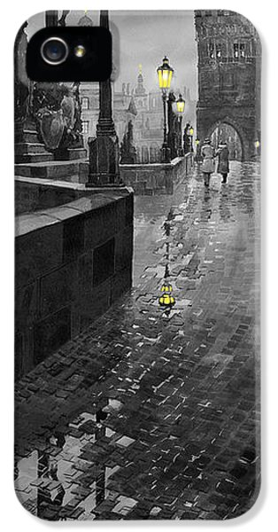 Bw Prague Charles Bridge 01 IPhone 5 Case