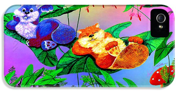 Bye-bye Beaver Buddy IPhone 5 Case by Hanne Lore Koehler