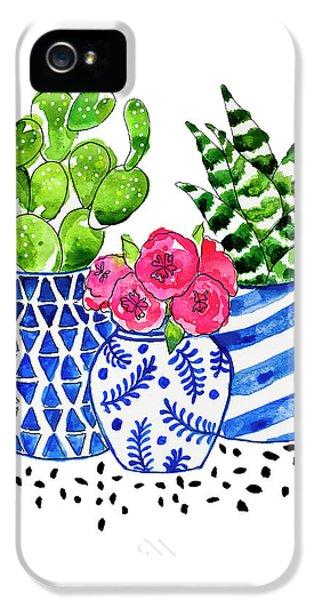 Cactus Garden IPhone 5 Case by Roleen Senic