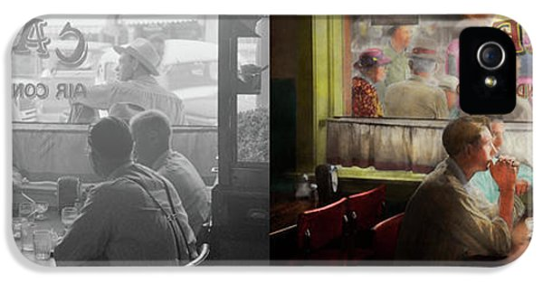 Cafe - Cold Drinks With Friends 1941 - Side By Side IPhone 5 Case