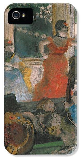 Cafe Concert At Les Ambassadeurs IPhone 5 Case by Edgar Degas