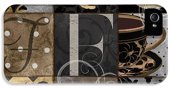 Cafe Noir Patchwork IPhone 5 / 5s Case by Mindy Sommers