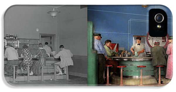 Cafe - The Half Way Point 1938 - Side By Side IPhone 5 Case