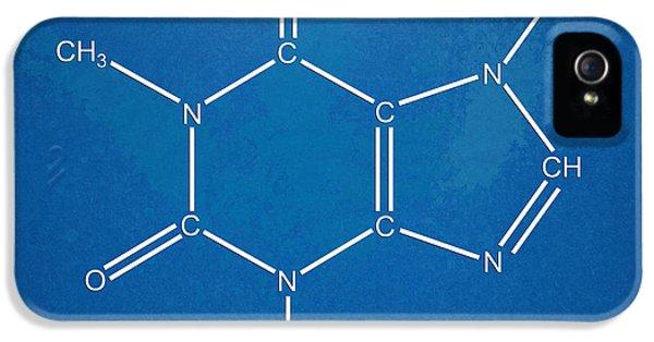 Caffeine Molecular Structure Blueprint IPhone 5 Case by Nikki Marie Smith