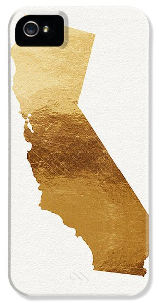 California Gold- Art By Linda Woods IPhone 5 Case by Linda Woods
