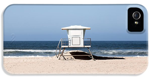 California Lifeguard Tower Photo IPhone 5 Case by Paul Velgos