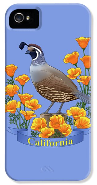 California Quail And Golden Poppies IPhone 5 Case