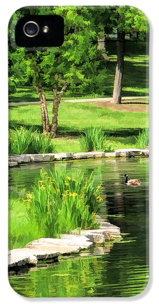 IPhone 5 Case featuring the painting Calm Lake Ellyn by Christopher Arndt