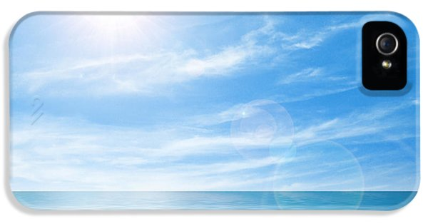 Calm iPhone 5 Cases - Calm seascape iPhone 5 Case by Carlos Caetano
