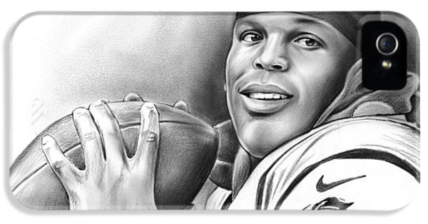 Panther iPhone 5 Case - Cam Newton by Greg Joens