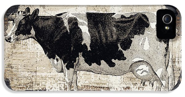 Cow iPhone 5 Case - Campagne I French Cow Farm by Mindy Sommers