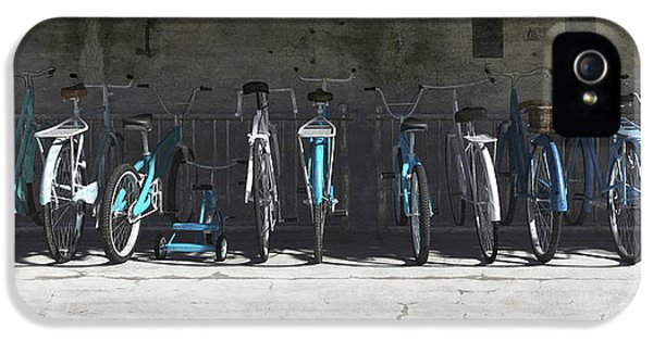 Campbell Blue Bike Rack IPhone 5 Case by Cynthia Decker