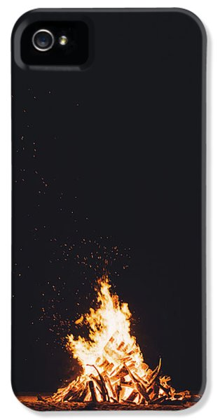 Camping Fire IPhone 5 Case by Happy Home Artistry