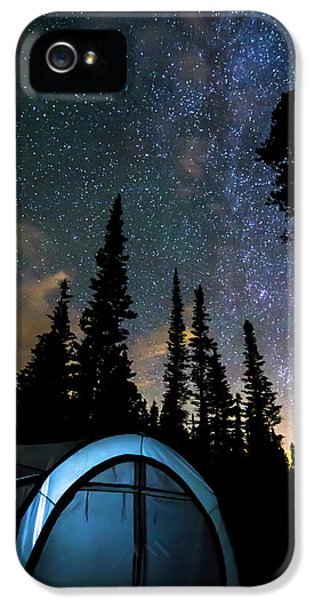 IPhone 5 Case featuring the photograph Camping Star Light Star Bright by James BO Insogna