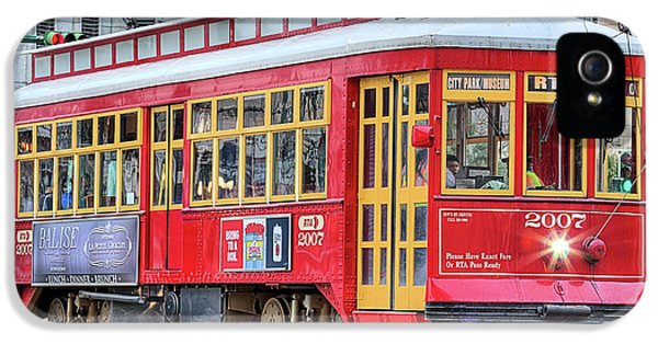 IPhone 5 Case featuring the photograph Canal Street Streetcar by JC Findley