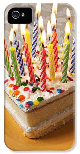 Candles On Birthday Cake IPhone 5 Case by Garry Gay
