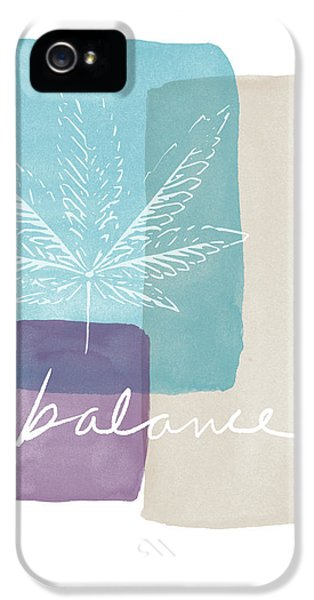 Cannabis Leaf Watercolor 3- Art By Linda Woods IPhone 5 Case