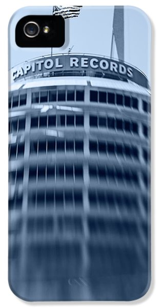 Capitol Records Building 16 IPhone 5 Case by Micah May