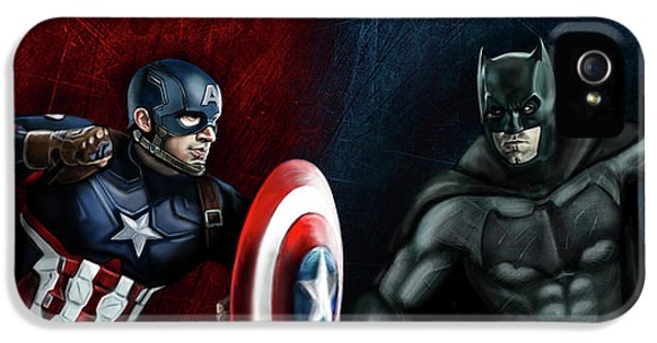 Captain America Vs Batman IPhone 5 Case by Vinny John Usuriello