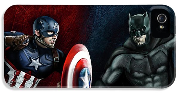 Captain America Vs Batman IPhone 5 Case
