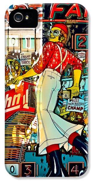 Elton John iPhone 5 Case - Captain Fantastic - Pinball by Colleen Kammerer