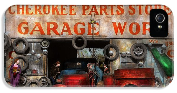 Car - Garage - Cherokee Parts Store - 1936 IPhone 5 Case by Mike Savad