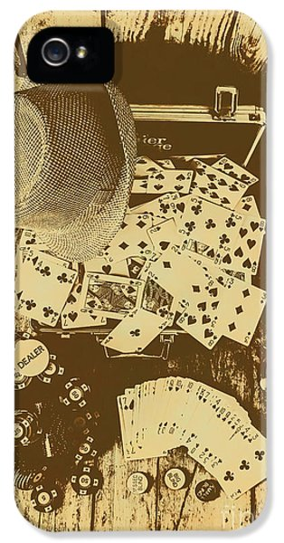 Card Games And Vintage Bets IPhone 5 Case by Jorgo Photography - Wall Art Gallery