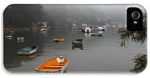 Careel Bay Mist IPhone 5 Case by Avalon Fine Art Photography