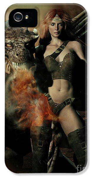 Careful He Burns IPhone 5 Case by Shanina Conway
