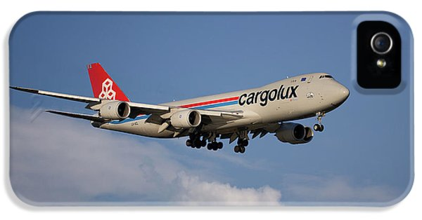 Jet iPhone 5 Case - Cargolux Boeing 747-8r7 4 by Smart Aviation