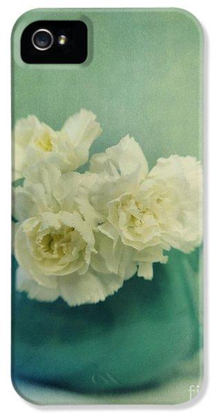 Carnations In A Jar IPhone 5 Case by Priska Wettstein