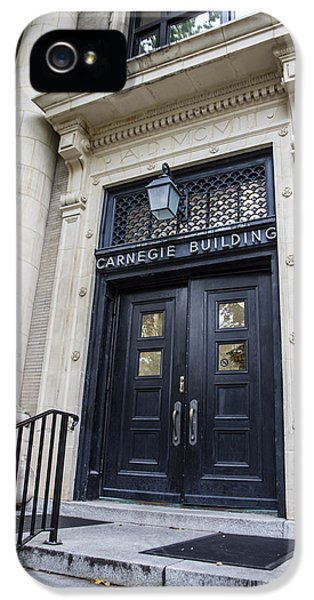 Carnegie Building Penn State  IPhone 5 Case by John McGraw