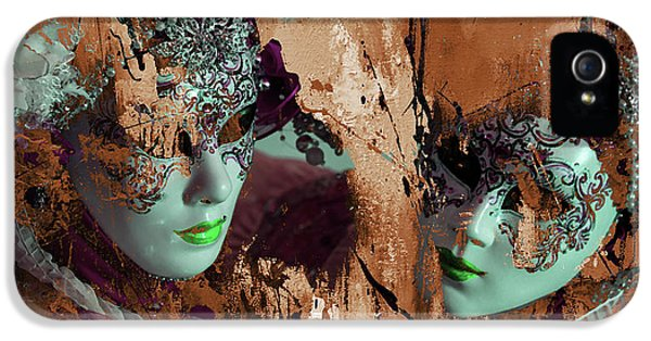 Carnival Mask IPhone 5 Case by Gull G