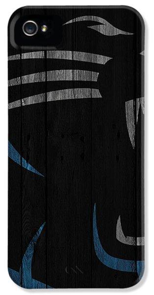 Caroilina Panthers Wood Fence IPhone 5 Case by Joe Hamilton