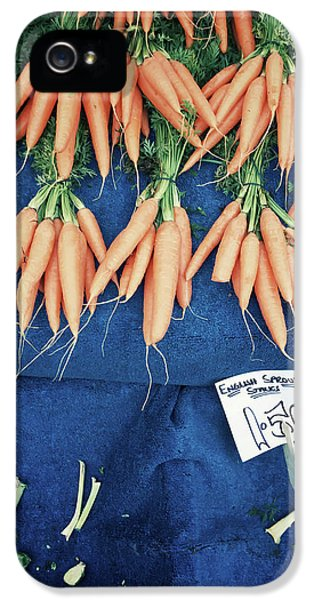 Carrots At The Market IPhone 5 Case by Tom Gowanlock