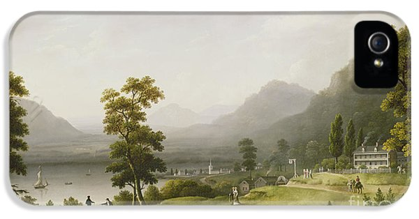Carter's Tavern At The Head Of Lake George IPhone 5 Case by Francis Guy