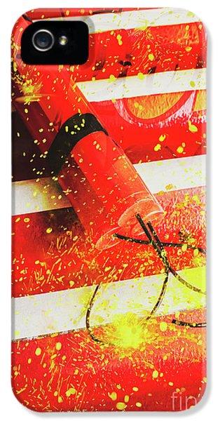 Damage iPhone 5 Case - Cartoon Bomb by Jorgo Photography - Wall Art Gallery