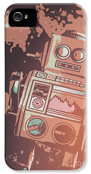 Cartoon Cyborg Robot IPhone 5 Case by Jorgo Photography - Wall Art Gallery
