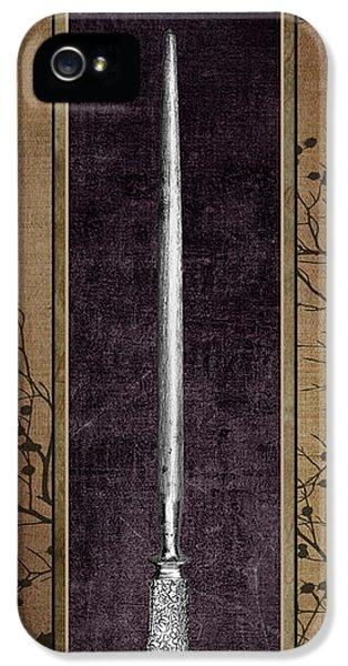 Carving Set Sharpener Triptych 3 IPhone 5 / 5s Case by Tom Mc Nemar