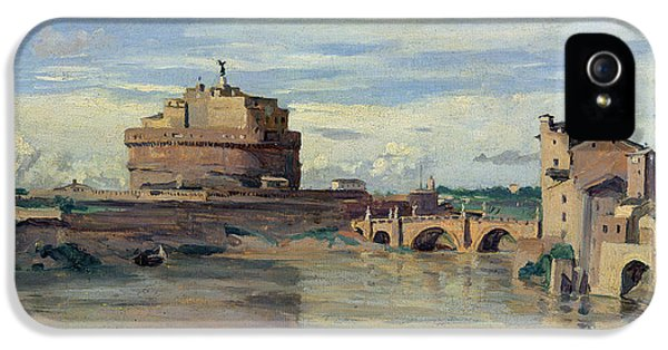 Castel Sant Angelo And The River Tiber IPhone 5 Case by Jean Baptiste Camille Corot