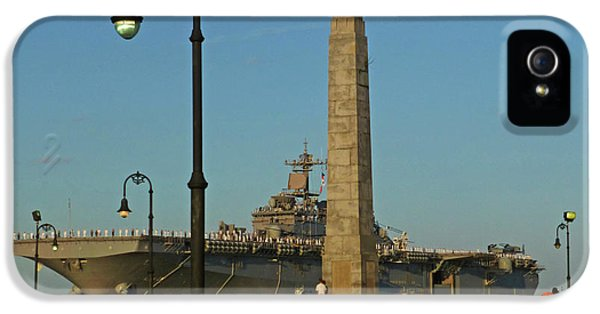Castle Island Aircraft Carrier 2012 Boston Ma Tall Ships Monument IPhone 5 Case by Toby McGuire