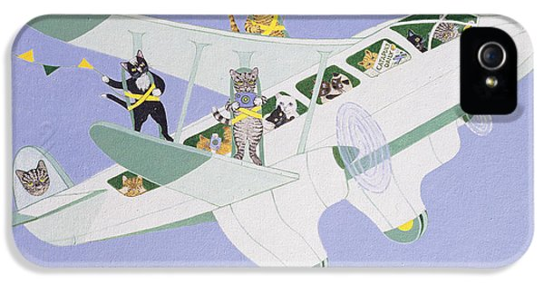 Bunting iPhone 5 Case - Cat Air Show by Pat Scott
