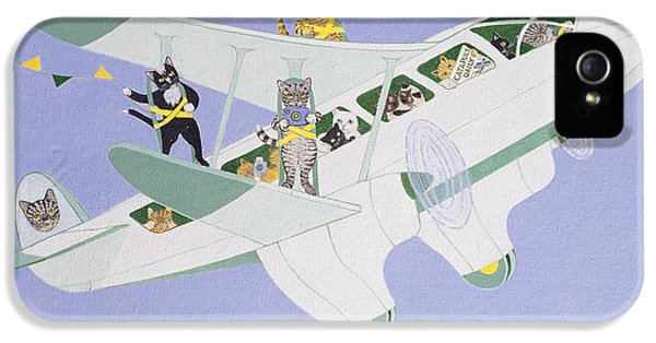 Cat Air Show IPhone 5 / 5s Case by Pat Scott