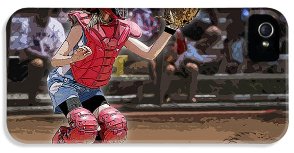 Softball iPhone 5 Case - Catch It by Kelley King