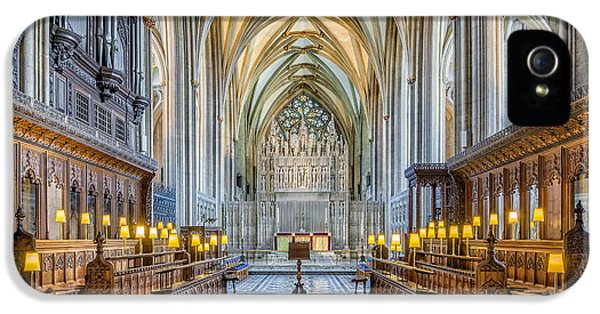 Cathedral Aisle IPhone 5 Case by Adrian Evans