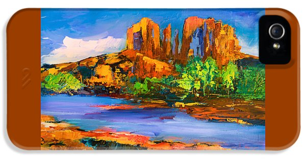 Cathedral Rock Afternoon IPhone 5 Case by Elise Palmigiani