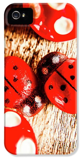 Ladybug iPhone 5 Case - Caught The Love Bug by Jorgo Photography - Wall Art Gallery