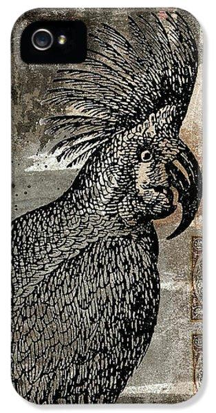 Cockatoo iPhone 5 Case - Caution Hot Cockatoos Postcard by Carol Leigh