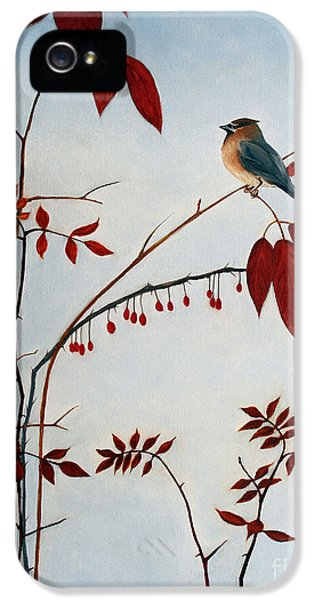 Cedar Waxwing IPhone 5 / 5s Case by Laura Tasheiko