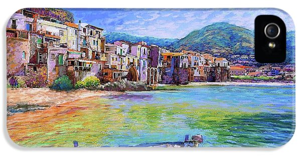 Town iPhone 5 Case - Cefalu Sicily Italy by Jane Small